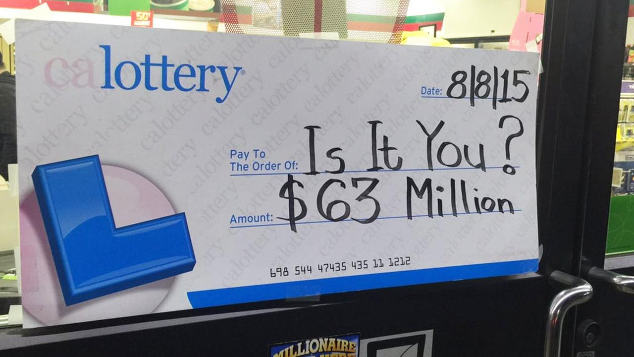$63 million Californian Lottery winner remains a mystery