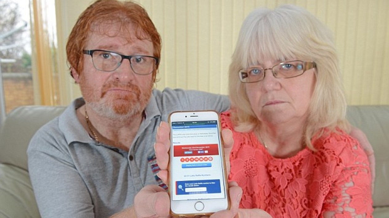 UK couple forgets to check their online lottery ticket purchase and lose £35 million