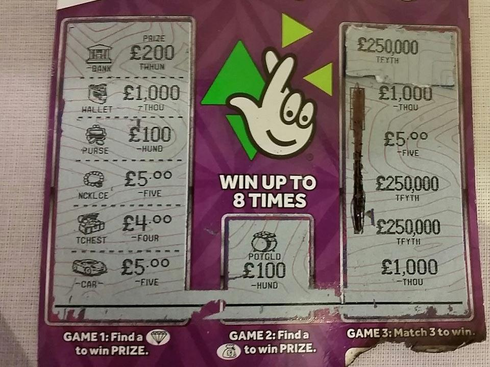Man attempts (and fails) to trick UK Lottery with fake £250,000 lottery win