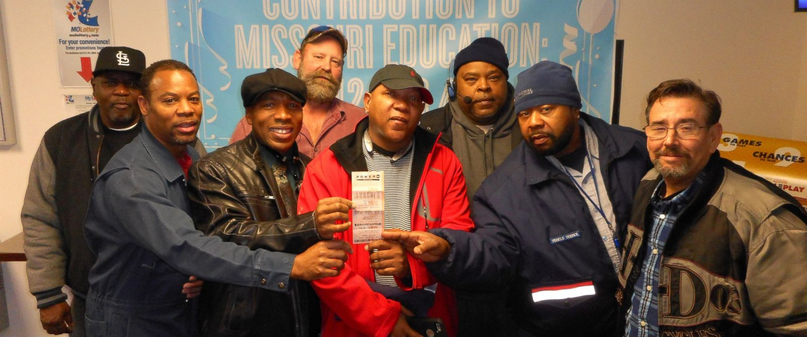 eight US postal service workers win $1 million with US Powerball